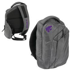 Logo Brands 12 NCAA Game Changer Sling Backpack - Kansas State Wildcats