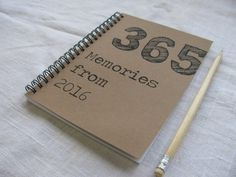 365 memories to make in 2016: Cool journal gift for a partner or best friend