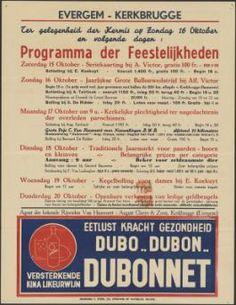 Affiche voor feestelijkheden ter gelegenheid van kermis, Evergem (Het Huis van Alijn (Gent)
