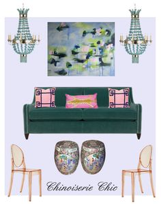Dahlia Chandelier   I love mixing beaded chandeliers with Chinoiserie. Beaded chandeliers are such a hot decorating trend and so beautifu...