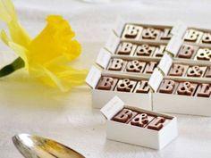 chocolate wedding favours