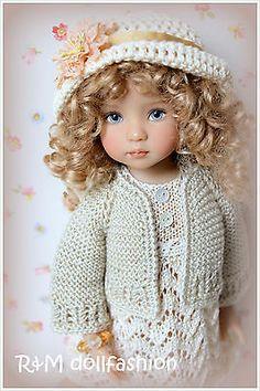 "R Mdollfashion Handknit Set for Effner 13"" Dollmore Narsha BJD Betsy McCall Doll | eBay. Ends 6/16/14. From Russia."