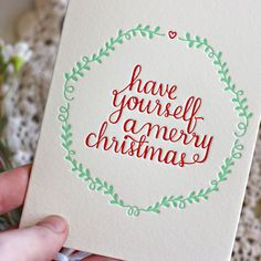 | Letterpress Christmas Card |