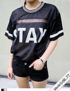 Today's Hot Pick :シースルーラインスポーティメッシュTシャツ http://fashionstylep.com/SFSELFAA0013982/hkm0977jp/out GOGOSINGオリジナルTシャツ☆ シースルーラインスポーティメッシュTシャツです。 今季大人気のスポーティトップス! シースルーとラインがポイント☆ ブラック×ホワイトのシンプルな配色で着まわし力も抜群です◎ 全体的に透け感がありますのでご参考ください。 ◆2色:ブラック/ホワイト