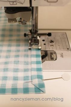 How to easily sew mitered napkins by Nancy Zieman   Sew Simple with Rectangles and Squares