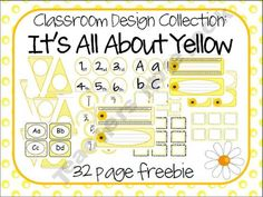 All About Yellow Classroom Labels