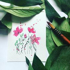 Hello dears! I decided I need to draw more flowers in one painting! So here are another bunch of flowers for you, I hope you like it 💕 Take care and lots of love, Pia x . . .  #artistoninstagram #illustratorsoninstagram #botanicalartist #watercolorartist #watercolorsketch #aquarellepainting #illustrationnow #floralarthub #watercolorflower #tempuradesign #floralsyourway #botanicalpainting #floralpainting #paintingflower #botanicalartist #underthefloralspell #watercolorpainting… Watercolor Sketch, Watercolor Flowers, Watercolor Paintings, Flowers For You, Bunch Of Flowers, Art Hub, Hello Dear, Illustrators On Instagram, Drawings