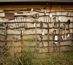 6 Stupendous Useful Ideas: Vintage Garden Tool Decor garden tool organization organic farming.Garden Tool Shed Pvc Pipes. Old Garden Tools, Garden Power Tools, Farm Tools, Old Tools, Garden Projects, Gardening Tools, Garden Center Displays, Garden Centre, Garden Tool Organization