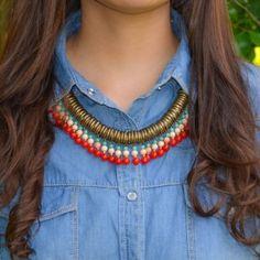 Collar Lazo Rojo | Dulce Encanto accesorios para mujer.   Compra tus accesorios desde la comodidad de tu casa u oficina en www.dulceencanto.com #accesorios #accessories #aretes #earrings #collares #necklaces #pulseras #bracelets #bolsos #bags #bisuteria #jewelry #medellin #colombia #moda #fashion