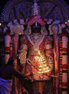 Tirupati Balaji dressed in diamond n gold ~ once a year