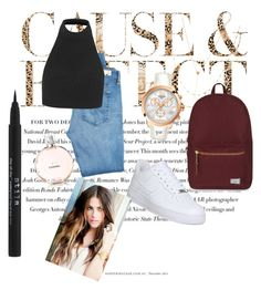 """""""Chilled look"""" by keely-macdonald on Polyvore featuring Envi, Tissot, NIKE, AG Adriano Goldschmied, Topshop, Jennifer Zeuner, Herschel Supply Co. and Stila"""
