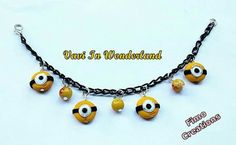 Minions Bracelet Handmade Polymer Clay (fimo)  For information & purchases write me here or at my e-mail valentinasworld@libero.it    My shop on Etsy:  https://www.etsy.com/it/shop/VaviInWonderland Delivery Worldwide          Per informazioni e acquisti scrivetemi qui o alla mia e-mail valentinasworld@libero.it Il mio negozio su etsy:  https://www.etsy.com/it/shop/VaviInWonderland Consegna in tutto il mondo
