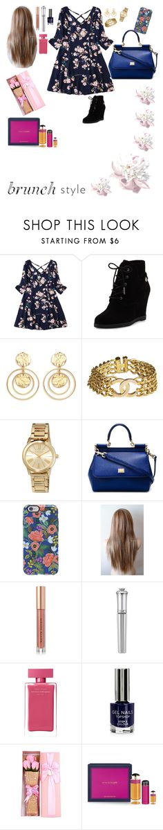 """""""Daughters outfit for Mother's Day brunch"""" by varyairy on Polyvore featuring MICHAEL Michael Kors, Kenneth Jay Lane, Chanel, Dolce&Gabbana, Rifle Paper Co, Kevyn Aucoin, Morgan Lane, Narciso Rodriguez, Topshop and Prada"""