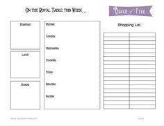 FREE Printable Menu Planner & Weekly Meal Plans from @Cherie Lowe {The Queen of Free}