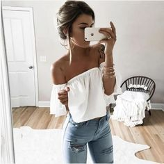Butterfly Sleeve Crop Top (different Colors Available)