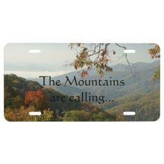 Smoky Mountain Autumn License Plate.