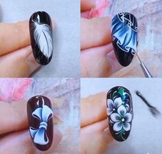 blumen video Nails Art The Best Nail Art Designs Compilation Nail Art Designs Videos, Nail Art Videos, Best Nail Art Designs, Orchid Nails, Rose Gold Nails, Funky Nail Art, Cool Nail Art, Nail Art Blog, Nail Art Hacks