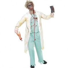 Costume homme docteur zombie