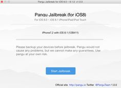 La herramienta para hacer jailbreak en iOS 8.x: PanGu, ya dispone de versión para Mac