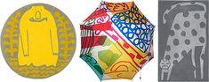 """""""毎日が楽しくなる"""" 鈴木マサルの「傘とラグとタオル」展が開催    Fashionsnap.com Surfboard, Pot Holders, Textiles, Fabric, Design, Tejido, Tela, Hot Pads, Potholders"""