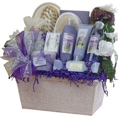($79.99) Renewal Spa Relaxing Lavender Bath and Body Set Gift Basket - Large  From Art of Appreciation Gift Baskets™   Order it here: http://astore.amazon.com/claireturn78-20/detail/B000YFZE48/183-7965716-5453826