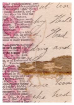 Sweet Love original collage mixed media vintage paper, cursive writing vintage…