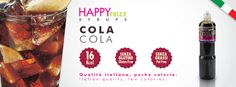 HAPPY FRIZZ SYRUPS COLA Find lots of funny recipes by HAPPY FRIZZ on http://www.shophappyfrizz.com/en/ricette/