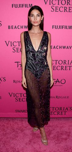 Come see all the sexy looks from the Victoria's Secret Fashion Show after party, including Lily Aldridge in sheer Thakoon