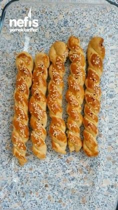Crunchy Stick gesalzen – My Tartessales Cookie Recipes, Snack Recipes, Snacks, Yummy Recipes, East Dessert Recipes, Turkish Recipes, Ethnic Recipes, Turkish Kitchen, Food Platters