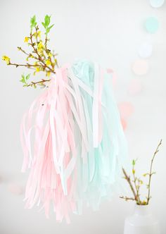 pastel tinsel