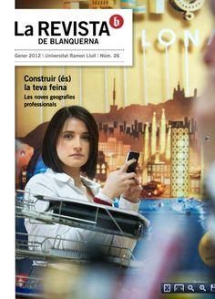 Coberta La revista de Blanquerna, 26, 2012 #design #university #Blanquerna