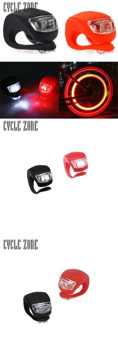 [Visit to Buy] Bike Light 2017 2X LED Silicone Bike Bicycle Cycling CYCLE ZONE Head Front Rear Wheel LED Flash Light Lamp High Quality #Advertisement