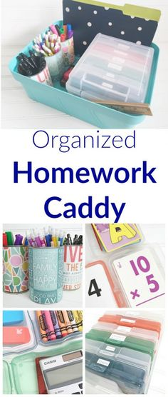Love this! Such a cute way to keep all the homework supplies organized and in one place.