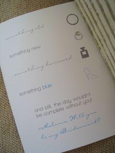 Bridesmaids:  Cute cards sayings