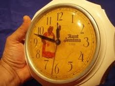 Aunt Jemima Kitchen Clock