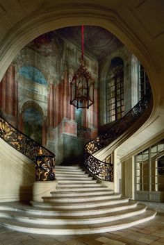 Staircase, the Hotel De Ville, Nancy, France