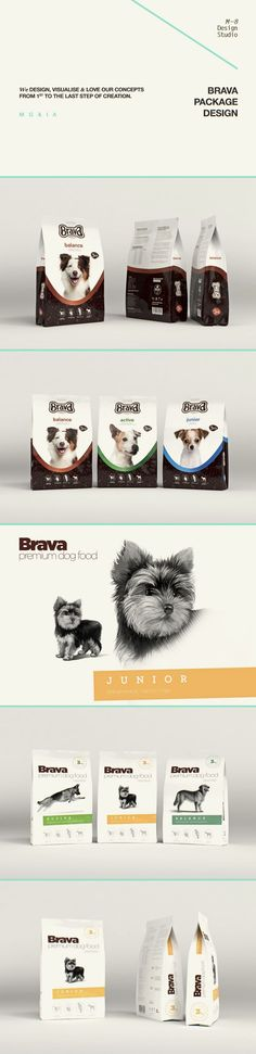 Brava (premium dog food), Package © РоманТихонов