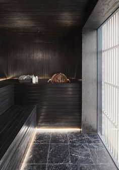 This black sauna is