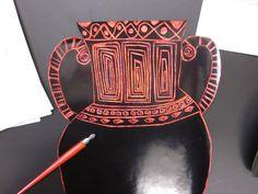 4th grade- scratch art greek vases - Art Lessons for Kids