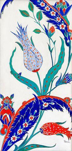 Pamir Thompson - Blue & orange tulip print
