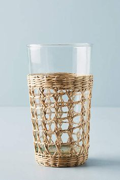 Anthropologie Seagrass-Wrapped Highball Glasses, Set of 4 #ad #affiliate #seagrass #glass #natural #homedecor #kitchen
