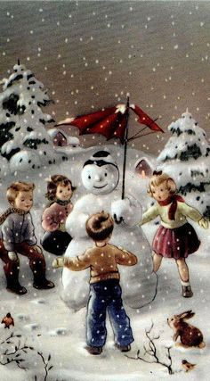 """When we recall Christmas past, we usually find that the simplest things - not the great occasions - give off the greatest glow of happiness. Vintage Christmas Images, Old Christmas, Christmas Scenes, Old Fashioned Christmas, Retro Christmas, Vintage Holiday, Christmas Pictures, Christmas Greetings, Christmas Crafts"