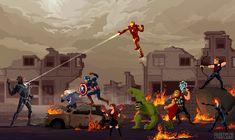 avengers,movies,pixel art