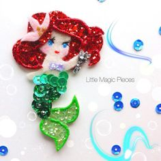 The Little Mermaid Inspired Ariel Hair Clip by LittleMagicPieces