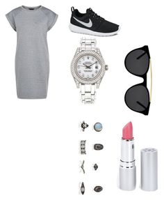 """""""bored"""" by shellandciara on Polyvore featuring NIKE, Rolex, Smoke & Mirrors and HoneyBee Gardens"""