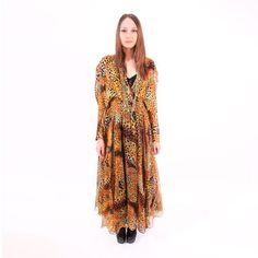 Orange Leopard Dress