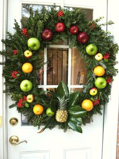 One of the wreaths I did for my outside decorations!