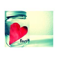 Fish Bowl tumblr ffffound fragile heart jar vintage cute love ❤ liked on Polyvore