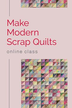 My online class, Make Modern Scrap quilt Using Color Value will show you how to design your own quilts, that look like you, not a pattern by someone else! Wise Craft Handmade