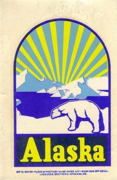 Vintage Alaska Travel Window Water Decal Luggage Label Sticker | eBay